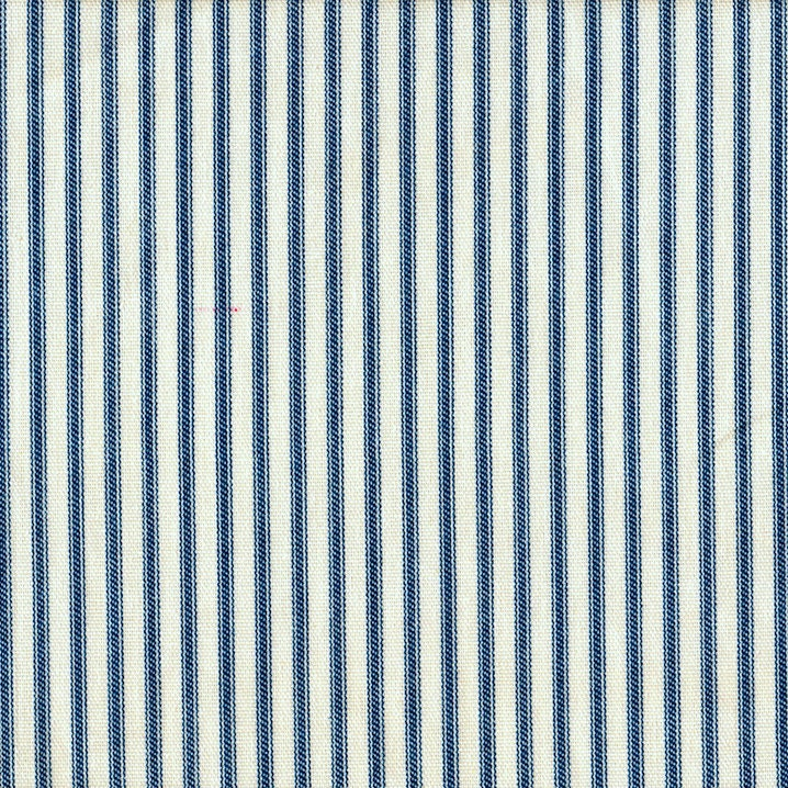 Tab Top Curtain Panels Nautical Blue Ticking Stripe