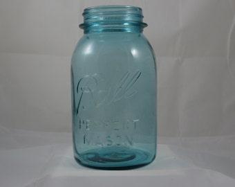 Vintage Aqua Blue Ball Canning Jar
