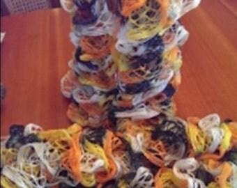 Halloween Frilly Knit Scarf - Handmade