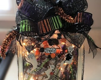 Halloween Lighted Glass Block