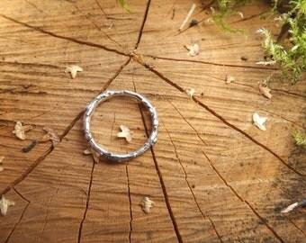 Silver Oak Twig Ring: Woodland Ring, Silver Branch Ring, Twig Ring, Nature Jewellery, Twig Jewellery, Rustic Ring