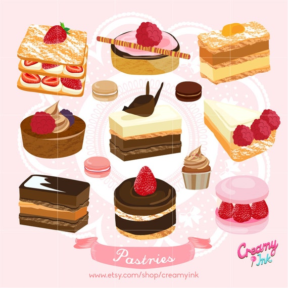 Cake Digital Vector Clip Art/ Birthday Wedding Cakes Digital