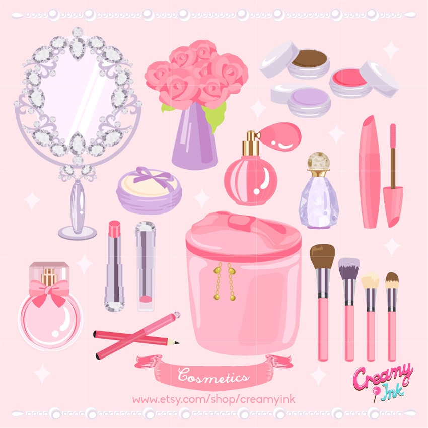 cosmetic digital vector clip art cosmetics clipart design