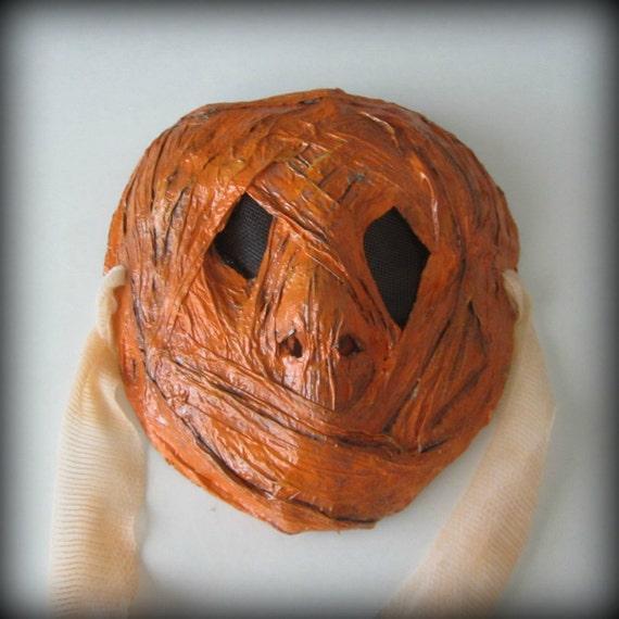 Pumpkinhead creepy paper mache mask for Paper mache mash
