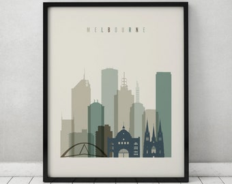 Melbourne art print, Poster, Travel Wall art, Australia, Melbourne skyline, City poster, Typography art, Home Decor, ArtPrintsVicky