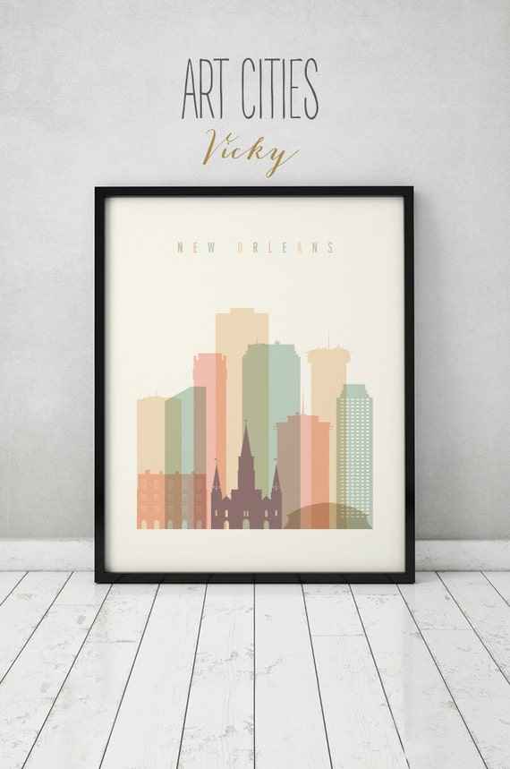 New Orleans Print Poster Wall Art New Orleans Louisiana