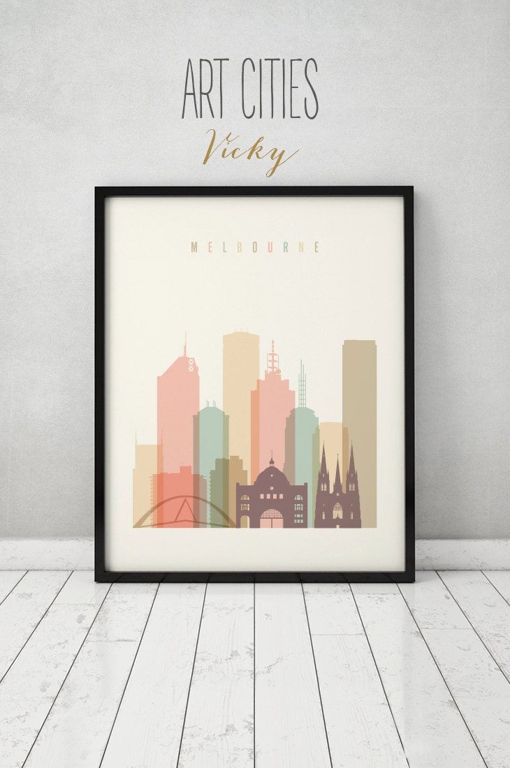 Melbourne print poster wall art australia melbourne Decorating walls with posters
