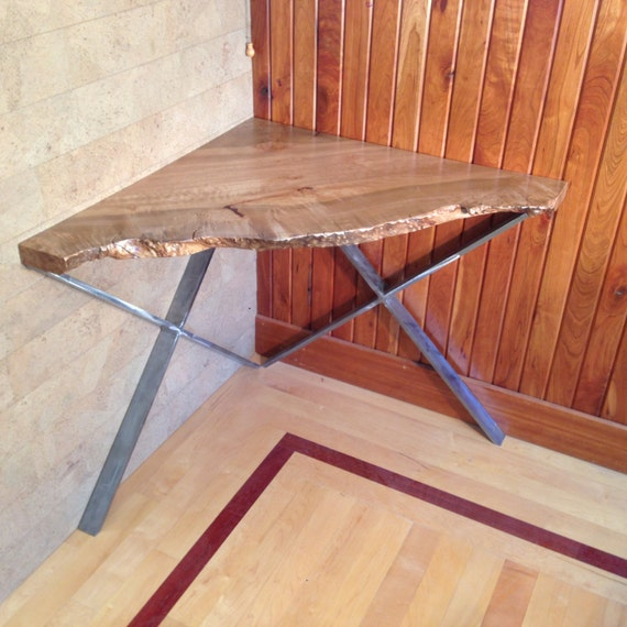 Items Similar To Live Edge Maple Corner Desk Or Table. One