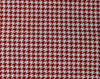 red houndstooth fabric