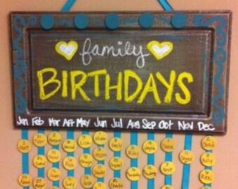 Personalized Birthday Calendars