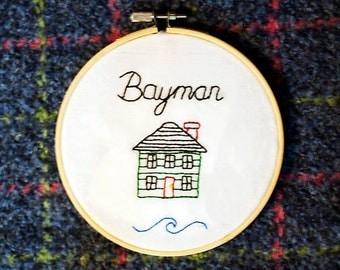 Bayman: Newfoundland Sayings - 5 inch embroidery hoop