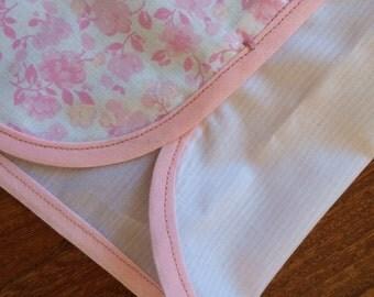 Pajama shorts pink flowers/pink stripes