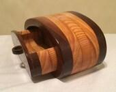 Round Wood Single Drawer