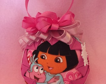 Quilted ornament, Dora .  Christmas.
