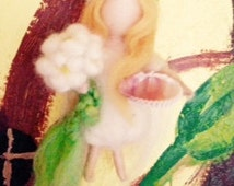Needle Felted and Waldorf Inspired-Fairy Guardian:Angel Fairy