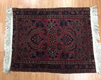 2' x 3' 1920 Persian Kashan Oriental Rug - Hand Made - 100% Wool - Antique - Vintage