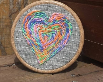 Tie Dye Heart Embroidery Hoop