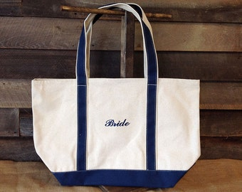 Bride Tote // Bride Bag // Bachelorette Party Bags