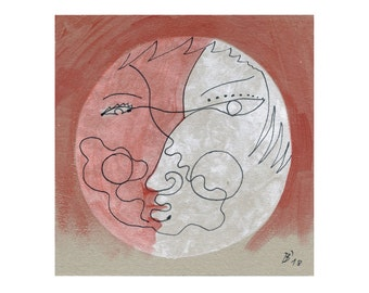 15/15 'Moon faces' abstract image, art