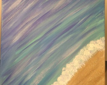Colorful ocean painting - original