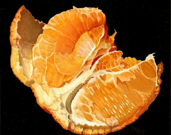 "Still life orange 8""x8"" Giclee Print"
