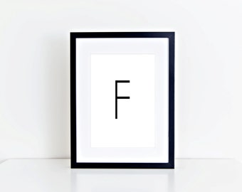 F Letter Monogram,  Home Decor, Alphabet, Typography, 8x10, Instant Download, Printable Artwork, Digital Art, Printable Wall Art