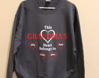 Grandma's Heart Sweatshirt