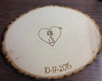 Guest Book Signing Wood Slice Sign