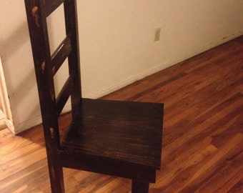 Handcrafted Ladder Back Chair
