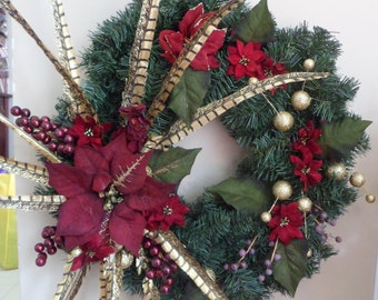 Gold feather Wreath