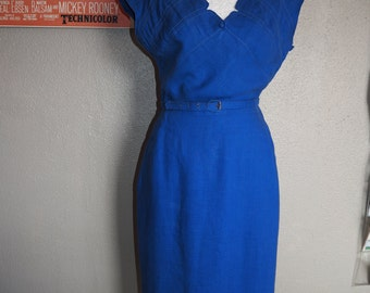 Vintage 1940s - 50s Cocktail Party Wiggle Dress