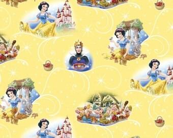 Disney's Snow White Yellow Fabric