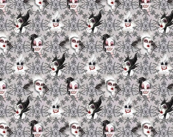 Disney's Villians Gray Fabric