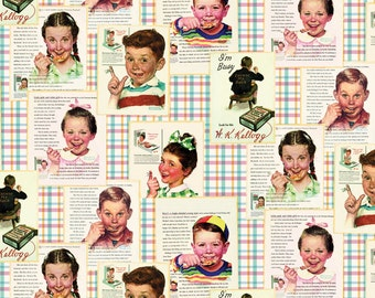 Kelloggs Kids Plans Fabric