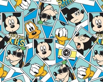 Disney Mickey Say Cheese Photograph Fabric From Springs Creative