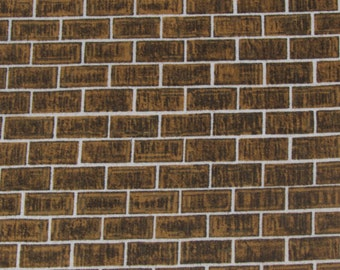 Realistic Brown Brick Fabric From Quilting Treasures