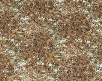 Realistic Granite Print Natural/Landscape Fabric deep brown From Quilting Treasures