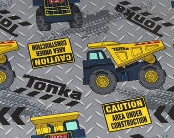 Tonka Truck Fabric Gray