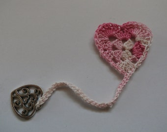 Hand Crocheted Heart Bookmark 8