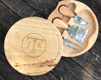 Cheese Server with Tools, Cheese Board, Server, Engraved Server,Shower Gift,Wedding Gift,Anniversary Gifts,Housewarming Gift,Laser Engraved