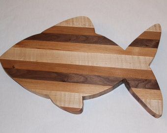 Handcrafted Fish wood cutting board
