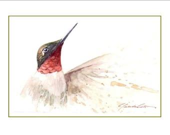 No. 40, Hummingbird, card, greeting cards