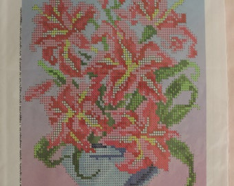 """Scheme for partial embroidery """"Lily"""""""
