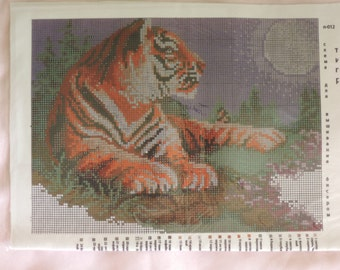 """The scheme for embroidery with beads """"Tiger"""""""