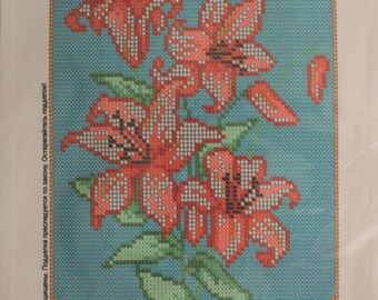 "The scheme for embroidery with beads ""Lilies"""