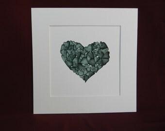 Stone Green Hearts (B8)