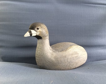 Pied Billed Grebe Decorative Woodcarving