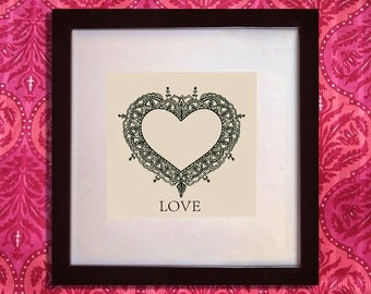 LOVE Bridal Gift Henna Artwork