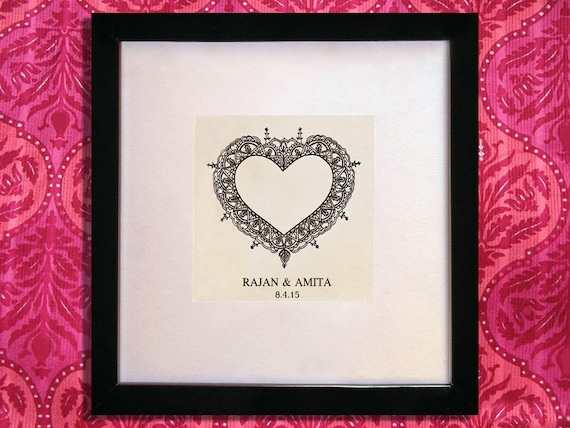 Personalised Indian Wedding Gifts : Personalised Indian Wedding Gift with names and date