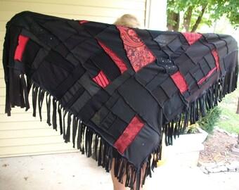 Upcycled Shawl Wrap